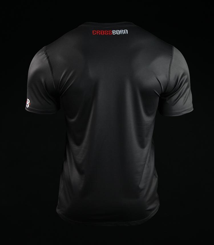 Koszulka treningowa (T-shirt) Crossborn Minimal Czarna