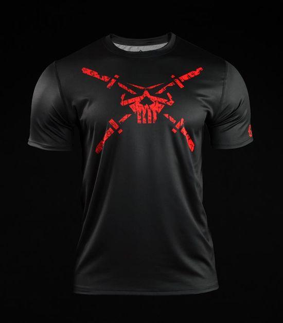 Koszulka treningowa (T-shirt) Skull Dirt Czarna